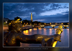 Pont Alexandre (salomon10) Tags: paris tower sundown toureiffel eifeltower pontalexandre
