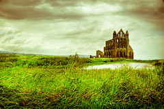 Whitby Abbey [Explored] (mendhak) Tags: england vintage private geotagged unitedkingdom whitby yesteryear gbr allxpressus mendhakwebsite geo:lat=5448813957 geo:lon=060772418