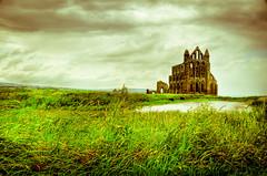 Whitby Abbey [Explored] (mendhak) Tags: england vintage private geotagged unitedkingdom whitby yesteryear gbr allxpressus mendhakwebsite geo:lat=5448813957 geo:lon=060772418