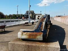 Lockgate Art (kev thomas21) Tags: art liverpool gate waterfront lock mersey merseyside