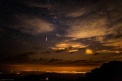 perseid meteor over denver colorado (tmo-photo) Tags: orange clouds stars shower colorado denver sevensisters starry meteor 2012 perseid