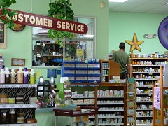 Sunseed Natural Market - Food Co-op (Rusty Clark ~ 100K Photos) Tags: natural pharmacy customer service pills shelves rx botles