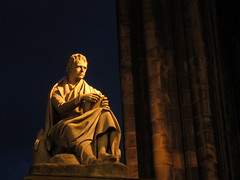 Scott Monument (jleathers) Tags: statue night scotland edinburgh poetry britain scottmonument walterscott