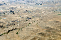 Aerial photograph of the San Andreas fault with Cholame in the background (cocoi_m) Tags: california memorial sanandreasfault geology jamesdean sanluisobispocounty geomorphology aerialphotograph cholame davisroad highway46 jackranch