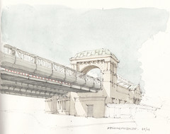 Kellinghusenstrae (Flaf) Tags: colour art water pencil drawing hamburg u hamburger u1 100 nouveau brcke u3 freie jugendstil jahre hochbahn flaf holthusenbad kellinghusenstrase zeichnerei bauheft