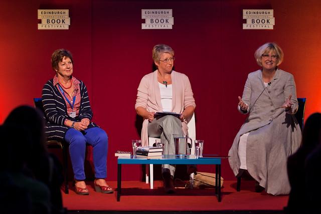 Sally Gardner, Nicola Morgan and Celia Rees