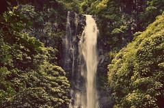 waterfall (att3mpt) Tags: road water forest landscape hawaii waterfall exposure maui hana