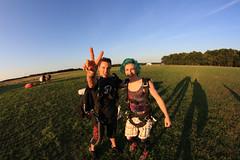 Peace! (DerekSteen) Tags: newyork skydiving shadows longisland duncan landed calverton dereksteen skydivelongisland dereksteenkate