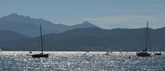 Two boats (Marisjuh) Tags: blue sea summer boat elba sailingboat
