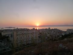 Sunset from Notre Dame de la Garde, Marseille (John Steedman) Tags: sunset france marseille frankreich sonnenuntergang notredame frankrijk francia coucherdesoleil notredamedelagarde  puestadelsol massilia