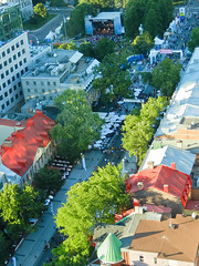 quebec, canada (florentina georgescu photography) Tags: city canada history festival architecture french landscape quebec arts culture canadian unescoworldheritagesite quebeccity performers birdseyeview stlawrenceriver historicsite panoramicview festivaldete grandalleeest outdoormusicstage