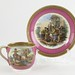205. 19th century Continental Porcelain Cup & Saucer