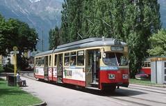 1996-06, Innsbruck, Bergisel (Fototak) Tags: austria tram 42 innsbruck strassenbahn gt6 ligne6 ivb düwag