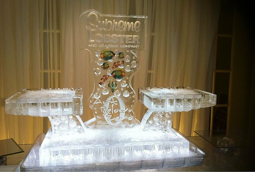 Supreme Lobster Seafood Display Ice Sculpture