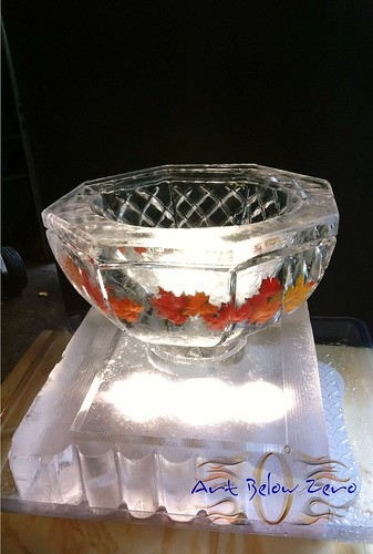 Icebowl on a mini seafood platter Ice Sculpture