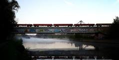 railway bridge Tubeke (NOel Sissau) Tags: bridge brussels mobile canal samsung railway android charleroi spoorwegbrug