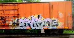 erupto (timetomakethepasta) Tags: erupto sws d20 a2m vizie nekst gouls freight train graffiti boxcar art gold medal
