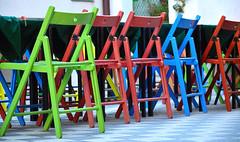 CHAIRS RAINBOW (CASTELMOLA SICILIA) (S.Torrisi@ph) Tags: castelmola sicilia sicily chair rainbow arcobaleno colori sedie