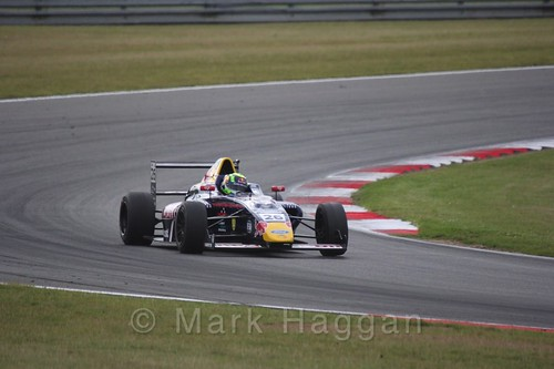 Luis Leeds in British Formula 4 during the BTCC 2016 Weekend at Snetterton