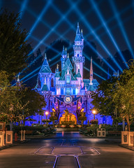 The Disneyland 60th Anniversary Celebration (Justin in SD) Tags: disneyland disney disneylandresort 60th 60thanniversary celebration castle sleepingbeauty sleepingbeautycastle night dark late street mainstreet compression zoom sony sonyalpha a7rii a7r2 sonya7rii