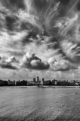 A Corua (Flaquivurus) Tags: blackandwhite acorua spain city clouds sky cityscape urban sea beach galicia