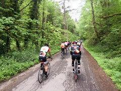 riding the ronde (dolanh) Tags: forestpark westhills biking cyclists rondepdx portland cycling groupride