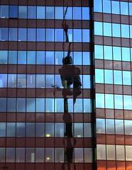 Donauturm, Vienna (Payam) (Nilou & Payam) Tags: reflection twisted donauturm vienna sky light