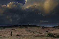 Lightning over Toscana I. (marco soraperra) Tags: landscape storm lightning tuscany weather dark clouds sky rain thunder toscana nikon nikkor pienza
