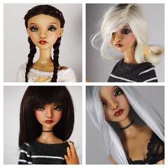 Nyla (AaloriRian) Tags: lillycat lilas bjd msd caramel alpaca handmade wig art doll green blonde ramie