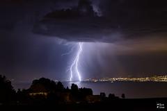 Orage sur la rgion de Lausanne (MarKus Fotos) Tags: orage orages storm strike foudre eclair clair clairs lightning thunder thunderstorm thunderstrike lman leman lac lake lausanne lausan suisse switzerland canon f4 france saintpaulenchablais
