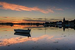 Peace & Tranquillity (Sunset Snapper) Tags: peacetranquillity sunset bosham westsussex southcoast uk still calm tranquil peaceful serene saxonchurch cloud seaweed boats dingy yachts reflections filter lee nd grad nikon d810 2470mm creek chichesterharbourhightideseptember2016sunsetsnapper