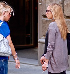 Blondes Smoking (tonyhudson12526) Tags: blondes sunglasses streetstyle candid smokers