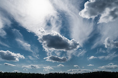 'On Parade' (Canadapt) Tags: clouds formation shoreline silhouette pattern shapes sky keefer canadapt