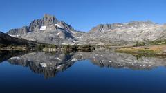 Banner Peak and Mt. Davis Reflected in Thousand Island Lake (Mike Dole) Tags: bannerpeak mtdavis thousandislandlake johnmuirtrail anseladamswilderness inyonationalforest sierranevada california