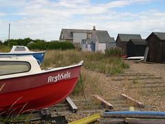 Argh Sole - Kingsdown, Kent (jcbkk1956) Tags: beach boats kingsdown kent eastkent nikon coolpix4300 beachhuts worldtrekker
