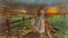 Walking on a Dream (Anita Armendaiz) Tags: alirium ambrosia ccb event hpmd lb maitreya pet second life summer tlc truth hair