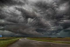 Oh no,this is the road.This is the road to hell. (bainebiker) Tags: storm sky turbulentweather clouds road canonef24mmf14liiusm hdr spalding lincolnshire uk
