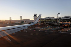 Leaving Calama airport at sunset / Chile (anji) Tags: chile southamerica americasur latinamerica northernchile sanpedrodeatacama atacamadesert