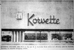 EJ Korvette Audubon NJ Exterior 1961 (JSF0864) Tags: korvettes department store vintage sign storefront