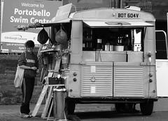 The Little Green Van 01 (byronv2) Tags: citroen vintage van thelittlegreenvan littlegreenvan diner cafe promenade portobello sea seaside edinburgh edimbourg scotland forth firthofforth rnbforth river coast coastal peoplewatching candid street coffee