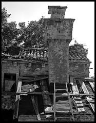 LINDAR . ISTRIA . CROATIA (LitterART) Tags: istrien istria kroatien croatia nikonp330 nikon monochrome abandoned abbandono places secret wonderful atmospheric lindaro mood chimney kamin rauchfang decay beautiful village ort hamlet
