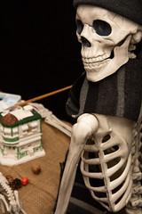 Artistic Halloween Skeleton Painting Statuary (Transient Eternal) Tags: events halloween bad black blackwidow bones burlap celebration creepy death decorate drape evil fear frighten ghosts ghoul glitter gore grimreaper holiday monster nightmare paint paintbrush pose pumpkins scary skeleton skull smile spider spirit table teeth terrifying