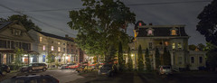 365-311 ( estatik ) Tags: 365311 365 311 september202016 sept 92016 tues tuesday night long exposure dark light lights street trails historic structure house north union panorama hunterdoncounty nj new jersey historical