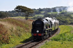 20090911    34028 (paulbrankin775) Tags: 34028 eddystone bulleid rebuilt pacific swanage railway steam west country smoke southern
