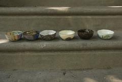 small pressed mold bowls in a  line (karenchristine552) Tags: ceramics clay pottery universitycity utata:entry=6 utata:project=goarts westphiladelphia