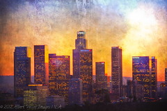 L.A. sunset textured! ( In 2 Making Images | L.A.) Tags: california textures downtownla elysianpark digitalphotography lasunset ilovela creativephotography laskyline canoneosdigitalslr discoverlosangeles rebelt2i albertvalles