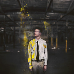 Proxy. (David Talley) Tags: old blur rot abandoned face yellow rust paint factory explosion rusty rubber pole business abandon poles abandonment proxy creaky powderpaint burtoo brendonburton