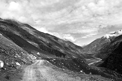way to infinity (amaury_217) Tags: voyage road trip travel blackandwhite bw cloud india white mountain black stone montagne desert pierre route journey valley nuage spiti inde d7000