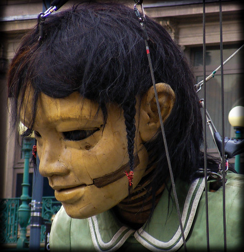 The Little Girl Giant pauses for a short rest - Giant Spectacular Sea Odyssey Liverpool