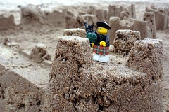 Lone Piper (keith bissett) Tags: castle beach set bag scotland construction sand kilt lego o pipe scottish hose piper bagpipes clan turret